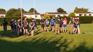 Royal Marines come to Mckane