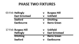 1st XV Phase 2 fixtures