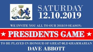 Presidents Game for the 2018-2019 Season