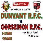 DUNVANT HOST AN IN FORM GORSEINON AT BROADACRE (13th Apr)