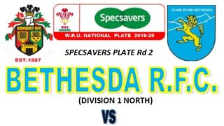 DUNVANT TREK NORTH TO FACE BETHESDA RFC IN PLATE Rd 2 (12th Oct)