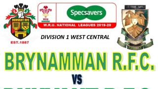 DUNVANT TRAVEL TO BRYNAMMAN RFC THIS SAT (Oct 19th)