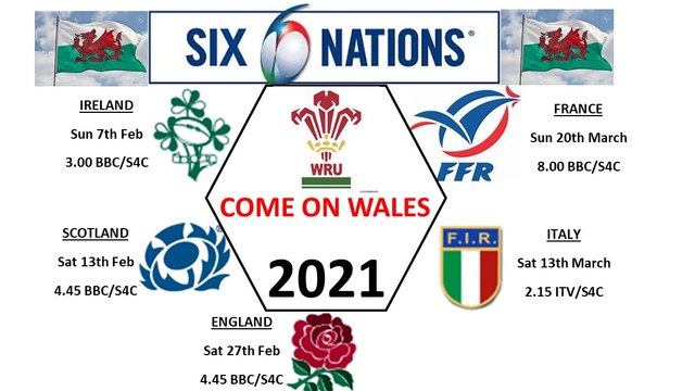 WALES TEAM NEWS  & SIX NATIONS TV SCHEDULE
