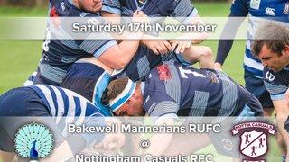 Senior Rugby Saturday 17th November