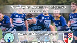 Senior Rugby Saturday 1st December