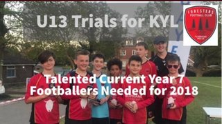 New current year 7 players wanted for 2018-2019 U13 Kent Youth League team
