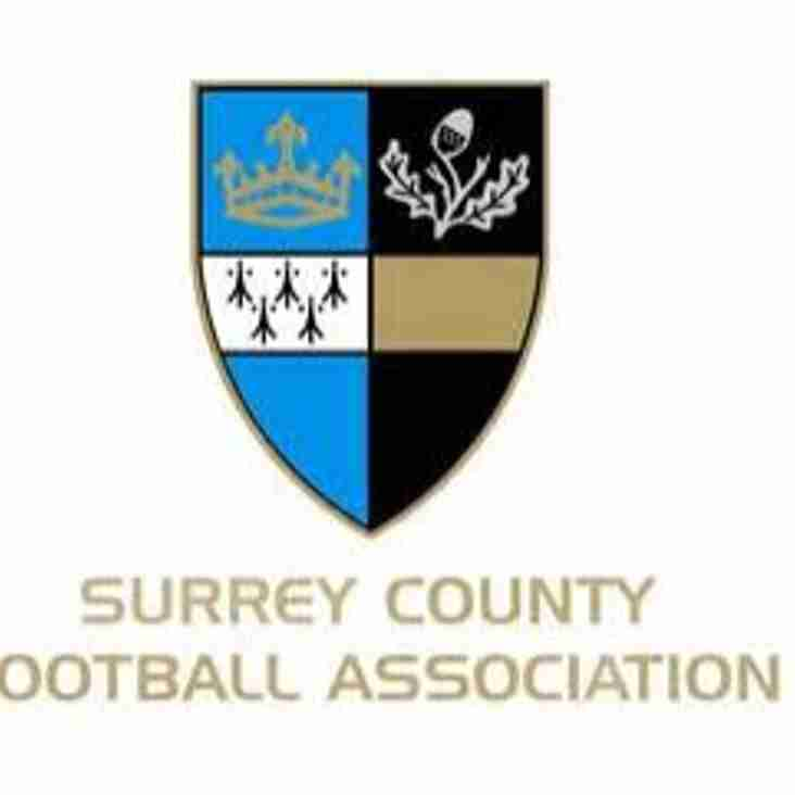 Surrey Senior Cup - Full Draw