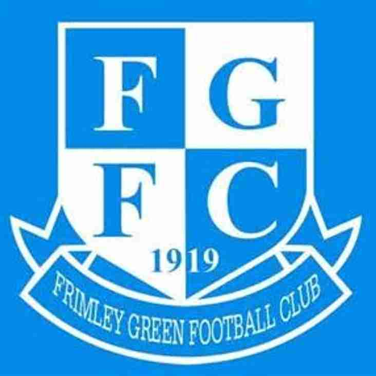 Managerial Departure from Frimley Green