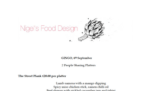 Pre-Order your Sharing Platters to have at GINGO on 6th September