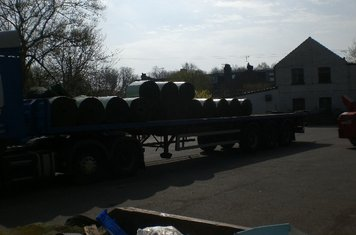 The first of four lorry loads