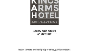 End of Season Dinner and AGM