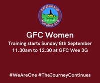 GFC LADIES - Training starts this Sunday