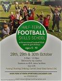 HALLOWEEN FOOTBALL SKILLS SCHOOL