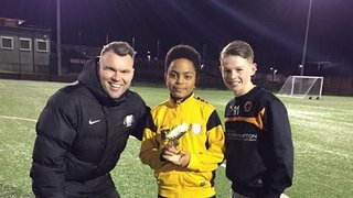 Well Done VFA Nuneaton player of the month Makaio