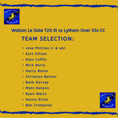 T20 Team Face Lytham Over 35s