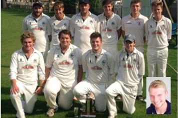 NSCL T20 Butcombe Trophy Winners: Back row L to R; Tom Hankins,  Jordan Smith, Dean Book (Captain), Josh Smith, Matt Scott, Oliver Gooding Front row L to R: Joe Jenkins, Louis Mancini, Sam Bowery, Mike Jones, Dan Veal.