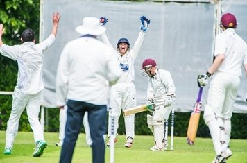 """vs. Ilminster """"Howsat' Tommo in action at Combe Park on Saturday 28th May."""