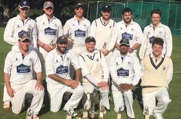 Bristol & District T20 Cup Winners vs Bristol Asians: Back row - Jordan Smith, Reece Croker, Jordan Price, Jackson Hamilton, Sam Avery, Josh Smith. Front row Joe Jenkins, Tom Hankins, Dan Veal (Captain) Anant Tambvekar, Joe Addey.