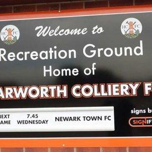 Harworth Colliery 2 Newark Town 0