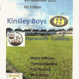 Kinsley Boys 0 Harworth Colliery 3