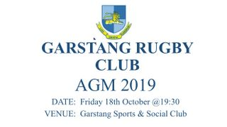 Garstang Rugby Club AGM - New Date