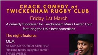 Comedy Night @ TRFC - Friday 1 March 2019