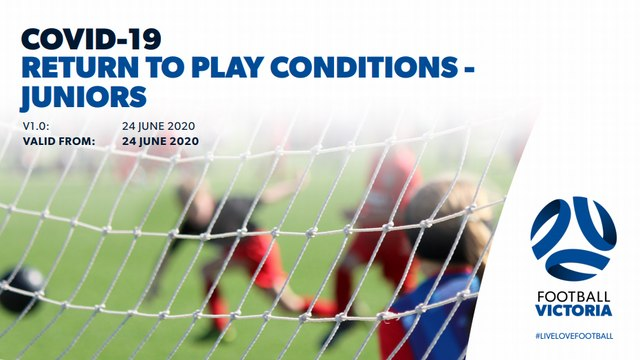 Return to Play Conditions - JUNIOR PLAYERS