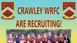 Ladies training starts this Sunday (10/02/2019) at Crawley Rugby Club!