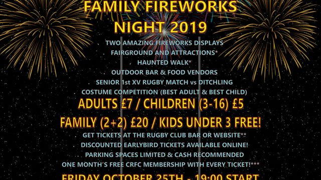 Halloween & Family Fireworks Night 2019