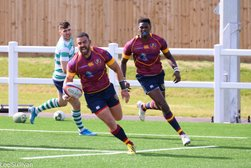 OPENING TRY FEST AS BOURNS RUN RIOT AGAINST THE GALLANT SOUTH LEICESTER