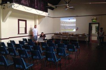 Hall set up for presentation