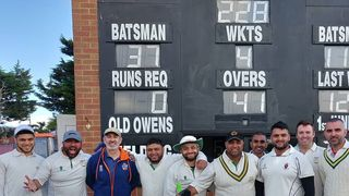 Ali Asghar the hero in 6 wicket win over Old Owens