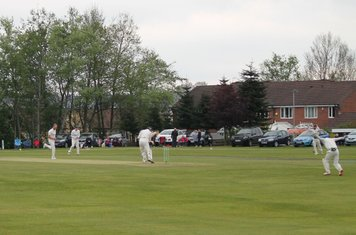 8th wicket - Tom Oakes is bowled by Christi.