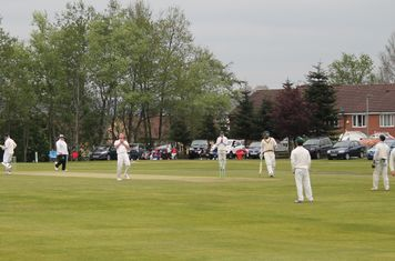 5th wicket - Martin Dawson is Caught and Bowled by Christi.