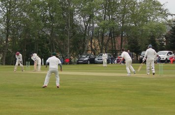 2nd wicket - Ewan Wilcox is bowled by Ben Haslegrave.