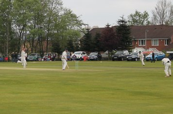 1st wicket - John Shenton is caught by Kev off the bowling of Christi.