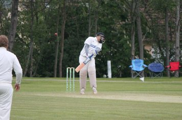 Jid evades a short ball from the Audley Pro.