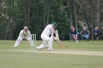 Mick Rowley batting aginst Audley.