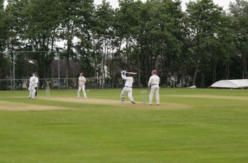 4th wicket - Ben Cotton hits Michael Brown down the ground, but is caught by Saad Qureshi.