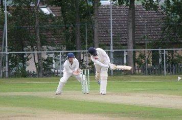 Adeel Khalid batting against Porthill.