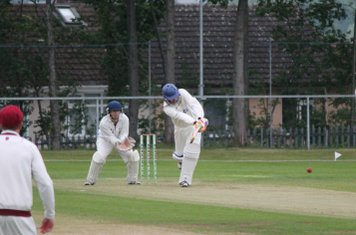 Chris works the ball into the legside.