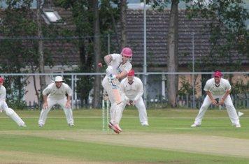 Kev Mountford opens the batting against Porthill Park