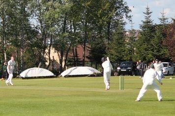24 for 3 - James Kirwan lobs Tyron Koen up to Sam Waterhouse at Mid Wicket.