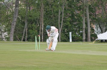 But he is bowled not long after for 2.