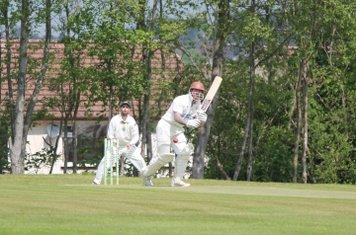 Kev Mountford gets the innings underway against Eccleshall.