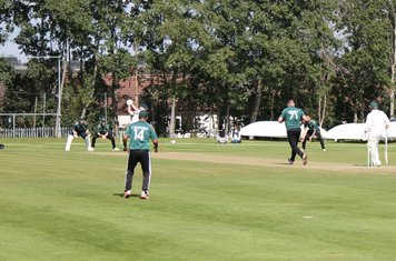 Moddershall 2nd wicket (45 for 2) - Joe Mason is bowled by Gareth Abbotts.