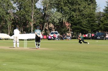 Moddershall 1st wicket ( 32 for 1) - Rory Jones caught by Alex Gilson off the bowling of Kyle Brassington.