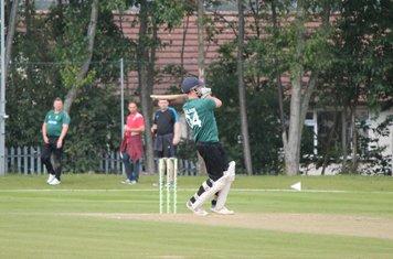 Burslem Captain Alex Gilson opens the innings, but soon falls for just 2 runs.