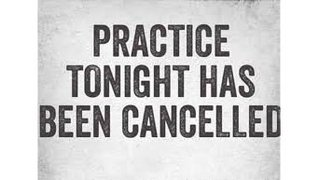 September 3rd 2019 pre-season Practice has been cancelled , we will see you on Thursday