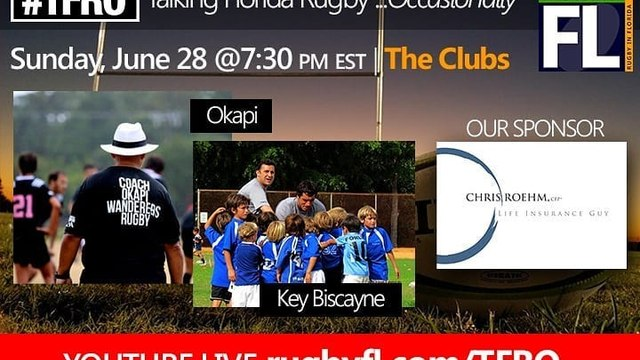 Sunday June 28th 2020 at 7:30pm Okapi Wanderers Rugby FC founders Matthew Hayden and Gavin Mcleavy will be talking  about our club, don't miss it !!!!